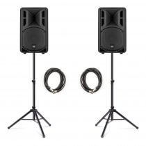 "2x RCF ART310-A (MK4) Active 10"" 1600W Speaker Bundle"