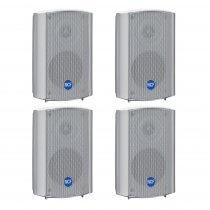 4x RCF DM41 30W 100V IP55 Rated Background Speaker (White)