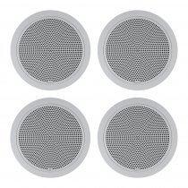 4x RCF 6W 100V Dual Cone Professional Ceiling Speaker (White)