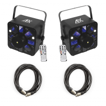 2x AFX Light COMBOLED-RB 3-in-1 Effect Lights inc. Cables