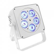 LEDJ Slimline 5Q5 Uplighter Par Can 5 x 5w LED DMX White Metal Body