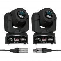 2x Showtec Kanjo Spot 60 LED 60W Moving Head Gobo Spot DJ Disco