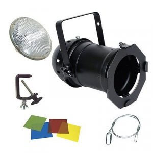 300w PAR56 INC. LAMP, HOOK, CLAMP & GEL