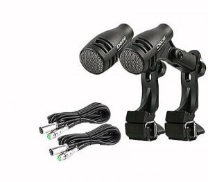 2 x Pulse D-606 Tom / Snare Mic & 2 x Mic Cables