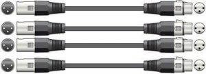 4x QTX DMX Lighting / XLR Audio Cable (1.5m)
