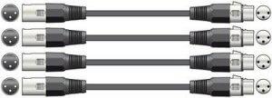4x 3M DMX Lighting / XLR Audio Cables