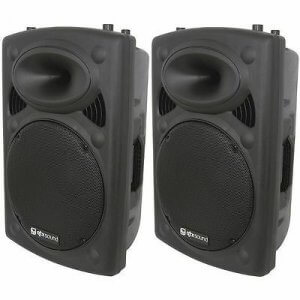"2x QTX QR15K 800w 15"" Speaker Sound System"