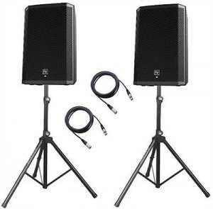 "2x Electro-Voice ZLX15P 1000w 15"" Active Speakers Bundle"