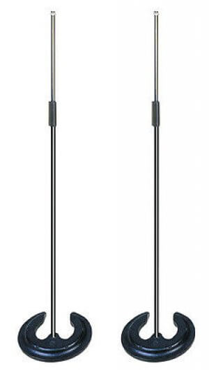 2x Soundlab Microphone Stand with Stacking Base