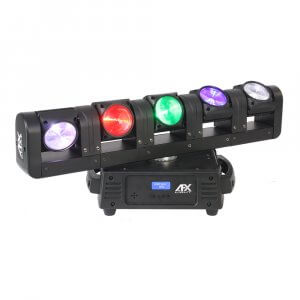 AFX Blade 5 FX LED Rotating 5 Head Moving Head Light Effect RGBW Beam DJ Disco