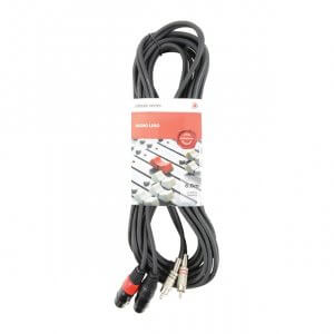 Chord Classic 2 XLRF to Twin RCA Leads (6m)