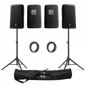 "Electro-Voice (EV) ZLX-12BT 12"" 1000W Powered Loudspeaker with Bluetooth inc. Covers, Stands and Cables"