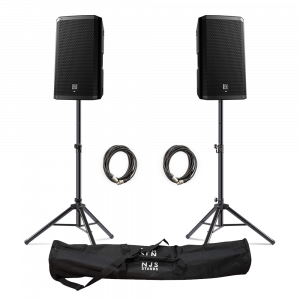 "Electro-Voice (EV) ZLX-12BT 12"" 1000W Powered Loudspeaker with Bluetooth inc. Stands and Cables"