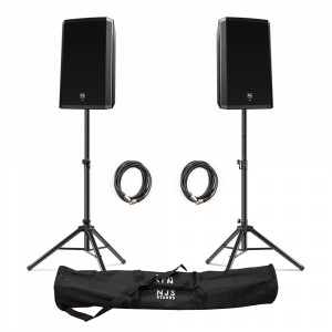 "Electro-Voice (EV) ZLX-15BT 15"" 1000W Powered Loudspeaker with Bluetooth inc. Stands and Cables"
