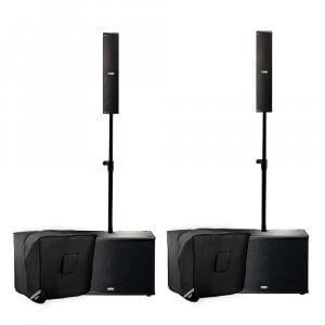 2x FBT CS1000 Vertus System (Black) inc. FREE Covers & Cables