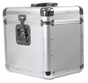 Soundlab Euro Style Album Case Holds 70 Records Silver
