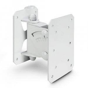 Gravity Tilt and Swivel Speaker Wall Mount (White)