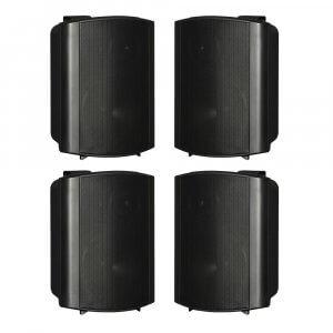 "4x HK Audio Install Speaker Black 6.5"" PA Sound System 120W 100V 8OHM"