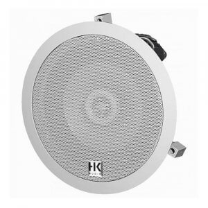"HK Audio Install Ceiling 6.5"" Speaker White 120W 100V PA Background Sound"