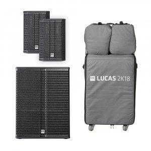 "HK Audio Lucas 2K18 Active Sound System 2.1 18"" 2000W DJ PA + Covers"
