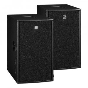 2x HK Audio Premium PRO210SA Active Subwoofer Bass Bin 600W Speaker DJ
