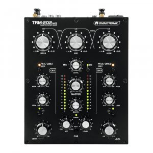 Omnitronic TRM-202 MK3 Channel DJ Mixer Rotary Mixing Console