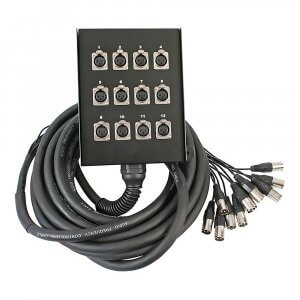 Pulse 12 Way XLR Multicore Stage Box (10m)