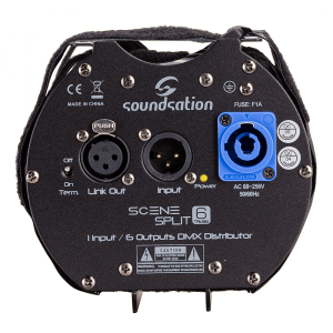 Soundsation SCENESPLIT 6 TRUSS 1 Input / 6 Outputs DMX Distributor DMX Splitter