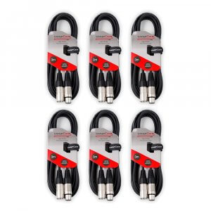 6x StageCore 3Pin XLR Cable (3M)