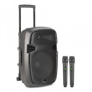 Stagg Revolt12 Portable PA System inc. 2x UHF Wireless Microphone