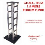 Global Truss Podium Plinth 1.5 Metre Flat Pack for Disco Lights Moving Heads etc