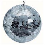 "Soundlab 300mm 12"" Silver Mirrorball Mirror Ball"