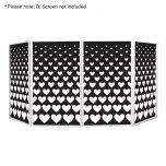 Equinox DJ Screen Heart Design Lycra (4 Pack)