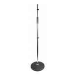 Pulse Heavy Duty Round Base Chrome Microphone Stand