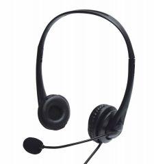 USB Multimedia Headset inc Microphone Skype Zoom Video Call Laptop PC