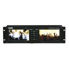 "DMT MKII Dual LCD Screen Monitor Rack 19"" 3U Video Camera Comfort 7"" Display HDMI"