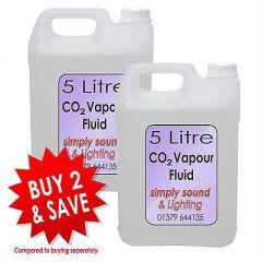 2x 5L Simply Sound & Lighting CO2 Effect Fluid