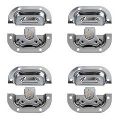 4x DAP Medium Butterfly Lock (Silver)