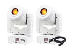 2x Equinox Fusion 100 Spot MKII (White) inc. Cable