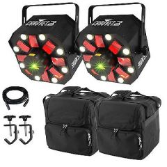 2x Chauvet DJ Swarm 5 FX inc. Carry Bag, Clamps and Cable