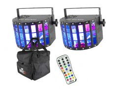 2x Chauvet Kinta FX IRC inc. IRC 6 Controller and Transport Bag