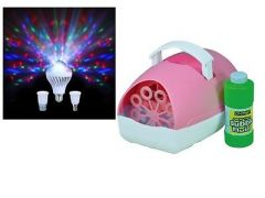 Sensory Lighting Kit (Bubble Machine and Moonbulb Light)
