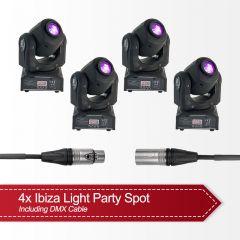 4x Ibiza Light LED Moving Head