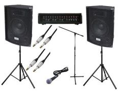 Complete 200w PA System inc. Mic, Cables and Stand