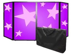 Simply Sound & Lighting Foldable DJ Screen inc. Carry Bag
