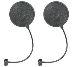 2x Citronic Single Layer Pop Filter (165mm)