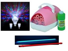 Sensory Lighting Kit (Colour Changing Tube, Bubble Machine and Moonbulb Light)