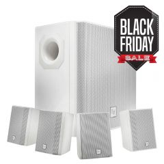 Electro-Voice EVID-S44 Subwoofer + 4x Satellite Wall Mount Speaker System (White)