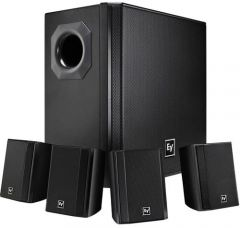 Electro-Voice EVID-S44 Subwoofer + 4x Satellite Wall Mount Speaker System (Black)