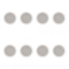 """8x Adastra 5.25"""" 100V Ceiling Speakers (White)"""